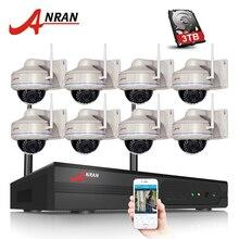 ANRAN Wifi 8CH NVR Kit 8 UNIDS H.264 1080 P HD Inalámbrico Wifi Cámara IP 2MP CCTV de la Seguridad Casera Vidoe Cámara de Vigilancia sistema