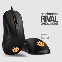 Gaming Mouse Steelseries RIVAL 300/300S 7200 DPIOptical Mouse LED Ergonomics Dota 2 computer accessories Brand mouse gamer