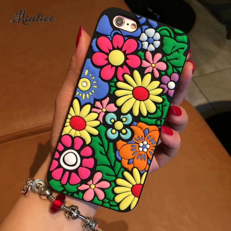 Colorful Sunflower phone case Silica gel Case For iphone 8 7 78plus 6 6S 6Plus 6SPlus Soft TPU Back Cover Shell silicone Cases