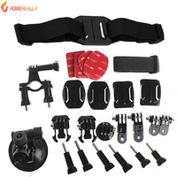 HOMEREALLY Gopro Accessory Set Bundles Set Helmet Straps Hand Wrist Strap Sticker Bicycle Frame For Gopro Hero 5 4 3+ 3 SJ4000