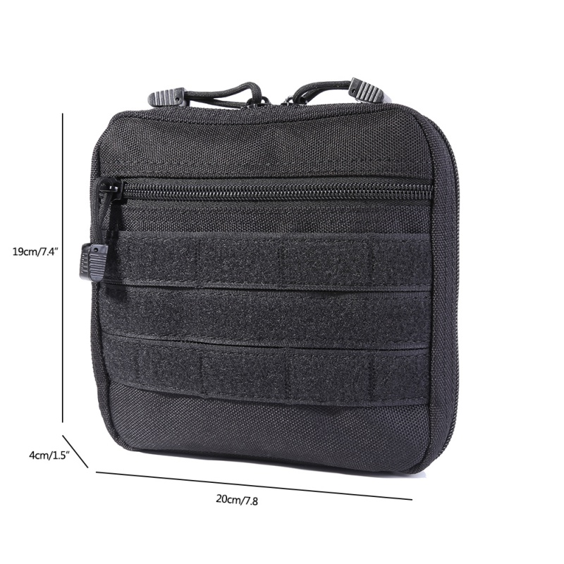 Outdoor Organizer Wear-resistant Waist Pack EDC Tactical Molle Belt Medical Pouch Military Hunting Travel Survival First Aid Kit