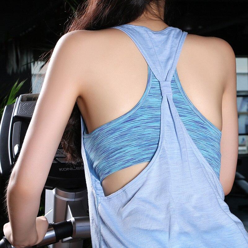 DANENJOY Sleeveless Sports Vest Women font b Yoga b font T Shirt Quick Drying Gym Running