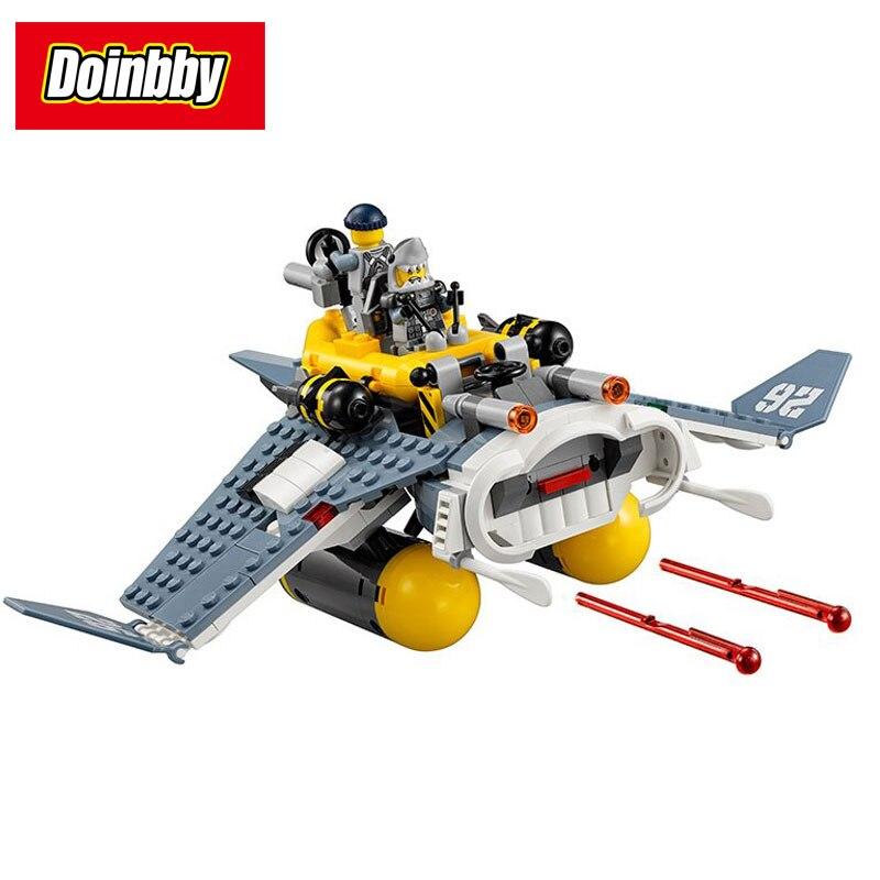 Bela 10716 334 Pcs Ninja Film Big Flying Fish Bomber Thunder Swordsm Avion Building Block Brique Jouet Enfants Cadeaux 70609