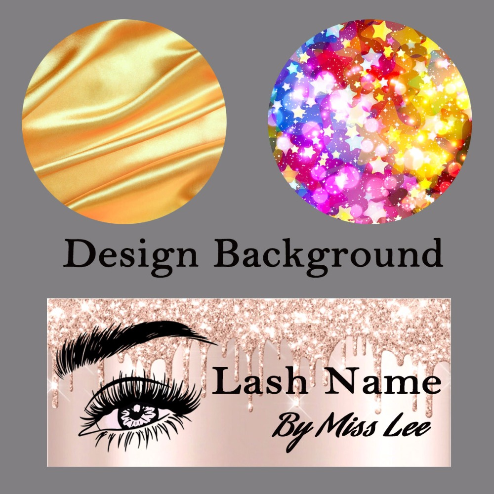 Background Paper Design and Print MOQ 100pcs for Each Style Professional Custom Service for Eyelash Case