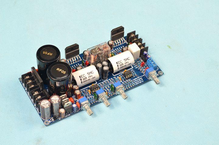 NE5532 LM3886 2 canaux 68 W avec circuit de protection tonalité préampli intégré HiFi stéréo carte amplificateur de puissance