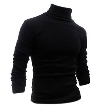 HOT SALE! Autumn Winter Fashion Turtleneck Sweater T-Shirts Solid Pattern Pullover Size M-XXL