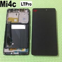 LTPro 100% Probados de Trabajo libre del Marco + LCD Asamblea Del Digitizador de la Pantalla Táctil Para Xiaomi Mi4C 4C M4C Reemplazo Del Sensor de Pantalla Móvil