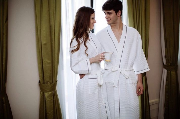 Women\'s Mid-Calf Cotton Sleep Lounge Robes RBS-D RB26 6