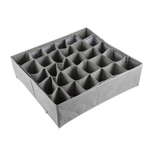 30 Grid Slot Bamboo Charcoal Underwear Ties Socks Drawer Closet Organizer Storage Box Fit For Collection