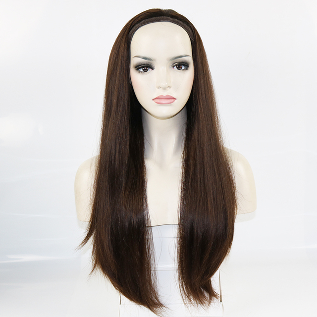 ddbe5980f49 US $302.92 5% OFF|100% European Virgin Human Hair Pony wigs New Wonder  Sports Bandfall Jewish Wigs Kosher Wigs For White Women-in Human Hair Wigs  from ...