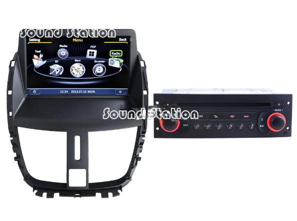 buy for peugeot 207 cc sw autoradio radio for peugeot 207 car radio touch. Black Bedroom Furniture Sets. Home Design Ideas