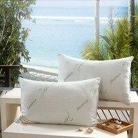 Descanso de fibra de bambu/almofadas/travesseiro leve/zero pressão memória travesseiro pescoço saúde/coxim/