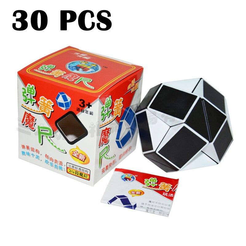 30 pièces ShengShou MoChi règle magique Cubo magico vitesse lisse magique cube étrange-forme Puzzle cube blanc noir néo Cube classique jouet