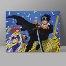 YuYu Hakusho Canvas Anime Manga Painting Retro 70s 80s Wall Pictures Bedroom Collection HD Print Home Decor disco collection 80s