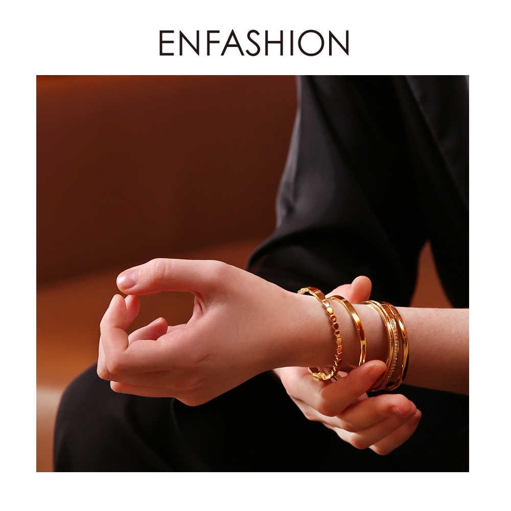 Enfashion Multilayer Cuff Bracelet Bangle Crystal Bangles Gold Color Stack Bracelets Bangles For Women Jewelry Wholesale 182004