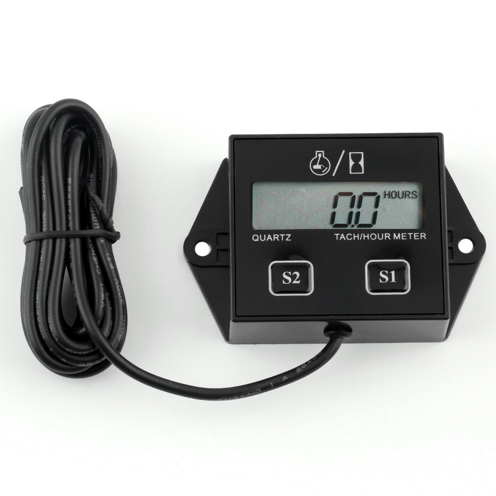 digital timers tach hour meter motorcycle electronic tachometer in car with wire  gauge lcd display for motor stroke engine spark ~ best deal july 2019