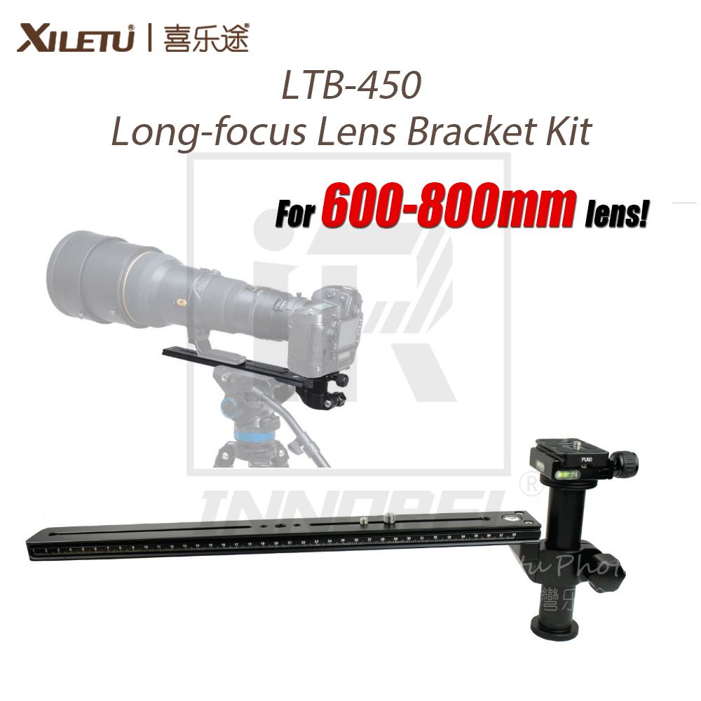 XILETU LTB-450 600-800mm Long-focus Lens Bracket Kit for Bird Watching Lengthened Quick Release Plate 1/4 & 3/8 Mounting ScrewXILETU LTB-450 600-800mm Long-focus Lens Bracket Kit for Bird Watching Lengthened Quick Release Plate 1/4 & 3/8 Mounting Screw