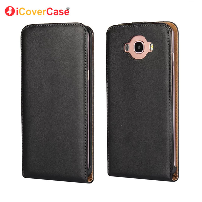 Business leather case for Samsung Galaxy J1 J3 J7 J120 2016 Leather Case Genuine Magnetic Vertical Cover Mobile Phone Cases