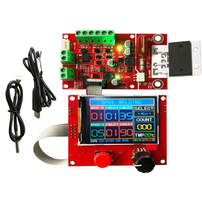 Pneumatic Spot Welder Controller with Fan & Temperature Sensor 100A Welding Controller NY-D08