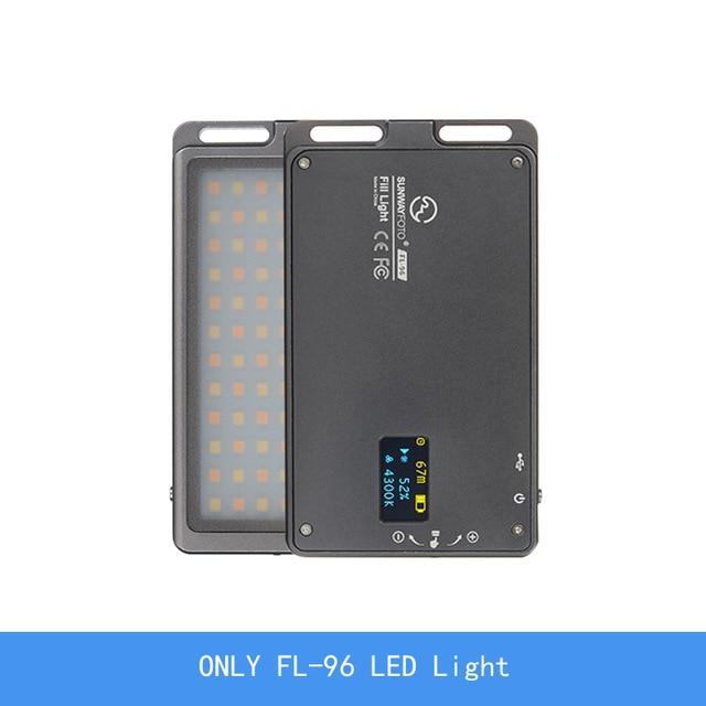 SUNWAYFOTO FL-96 FL-120 светодиодный видео свет фото освещение на олимпу Pentax DV камера hotshoe Dimmable светодиодный для DSLR youtube - Цвет: only FL-96