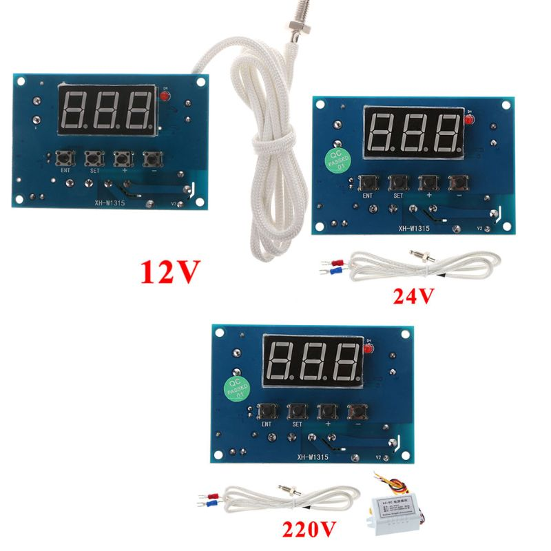 Digital Thermostat K-type Module AC 220V/DC 12/24V 30degree To +999 Degree Controller Board