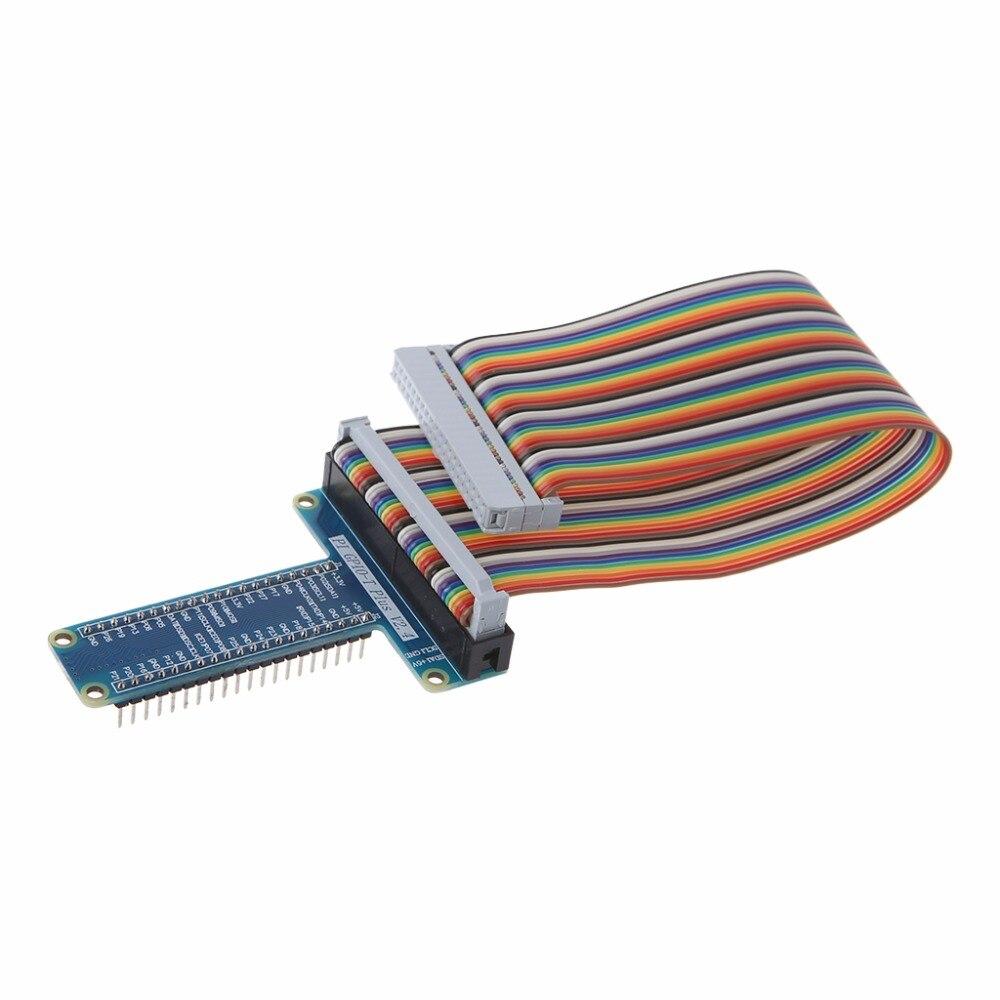 40 Булавки Плата расширения адаптер 40-Булавки GPIO кабельной линии для Raspberry Pi 3 2 Модель b + высокое качество C26 ...