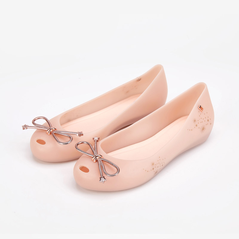 Melissa Shoes Women Jelly Sandals 2019 New Summer Shoes Women Casual Flat Fashion Bowtie Melissa Sandals For Women-in Low Heels from Shoes    3