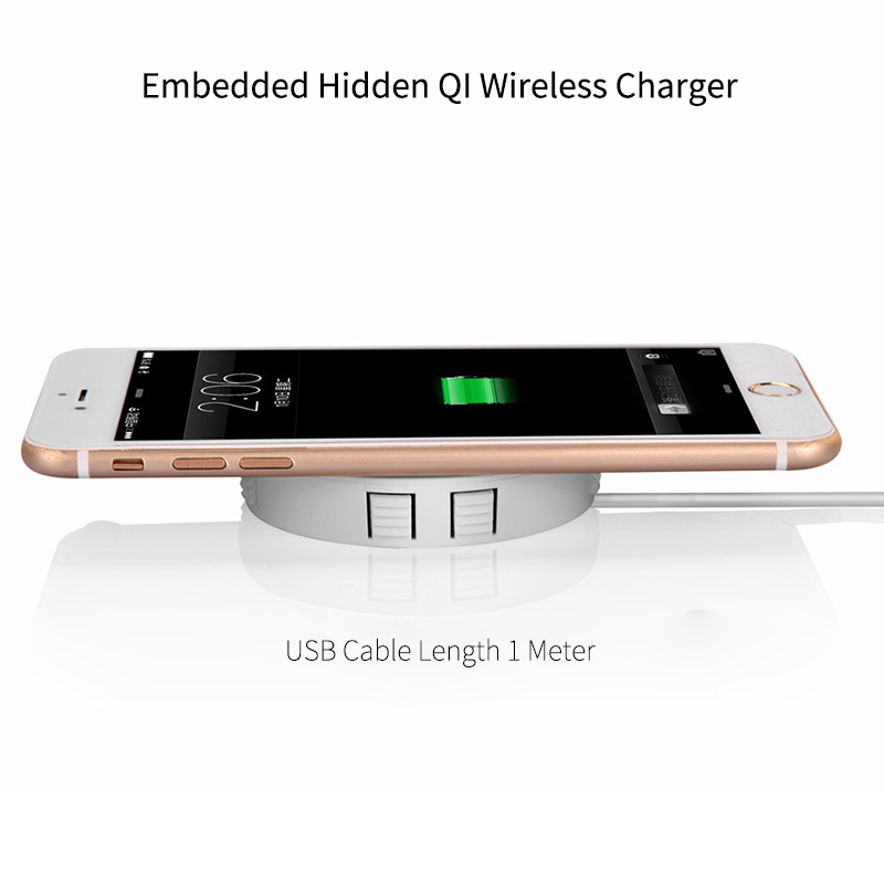 Image 5 - Embedded Wireless Charger for Desktop Hidden Wireless Desktop Furniture QI Wireless Hidden Wireless Charging Base-in Wireless Chargers from Cellphones & Telecommunications