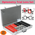 266 stücke Test Objektiv Set Optische Objektiv Optometrie Rim Fall Beweise Box Aluminium Rim Kit Optometrie Test Trial Rahmen