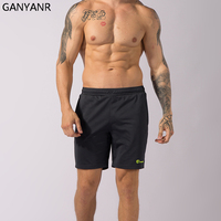 GANYANR Brand Running Shorts Men Gym Basketball Sports Athletic Leggings Short Pants Crossfit Training Football Volleyball