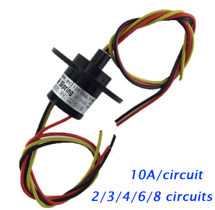 Free Shipping Wind Power Slip Ring 2/3/4/6/8 Circuits Wirings 10A Conductive Rotating Slip Ring Diameter 22mm/21.7mm Spare Parts 5pcs 2 wires circuits 30a 22mm wind generator slip ring wind turbine slip ring rotating connector capsule slip ring