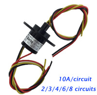 Free Shipping Wind Power Slip Ring 2 3 4 6 8 Circuits Wirings 10A Conductive Rotating