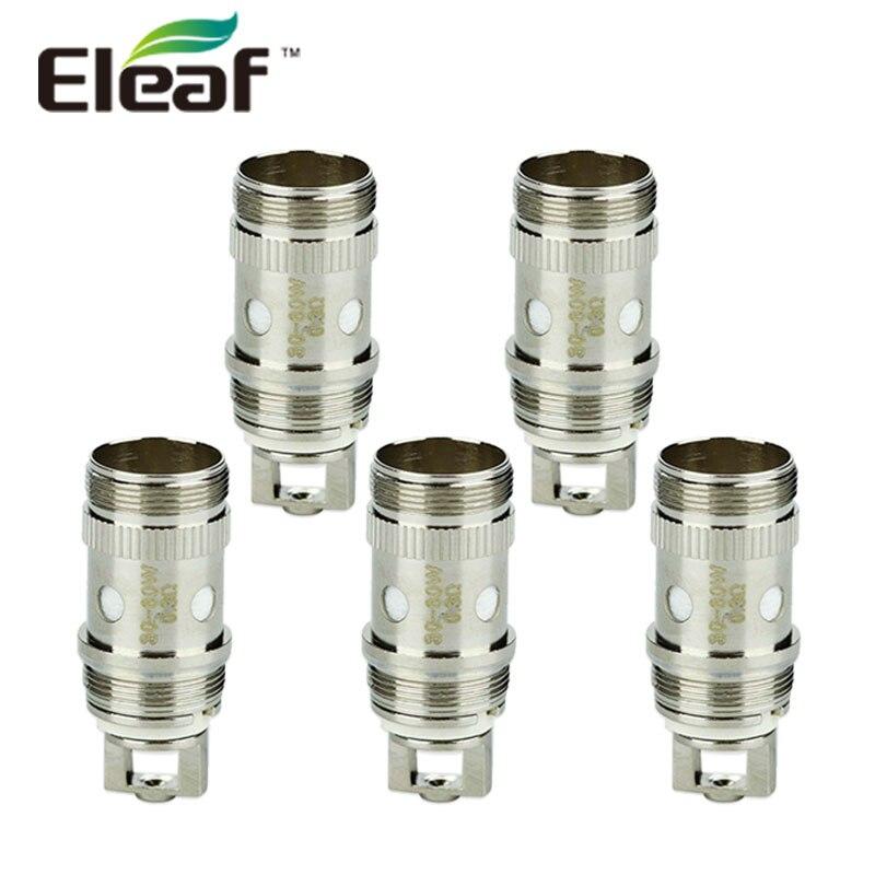 Originale 5 pz Eleaf EC Testa Atomizzatore 0.3ohm/0.5ohm E-cig Bobina Testa per IJust 2/Melo/Melo 2/Melo 3/Melo 3 Mini/Lemo 3 Atomizzatore