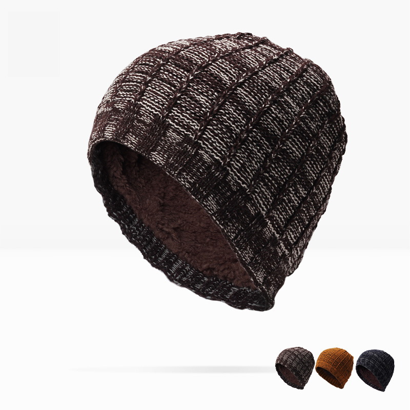 Man Direct Selling Solid Adult And Woman 2017 New Fashion Warm Wool Knitted Hat Korean Style Winter Skullies&beanies Cap For the new children s cubs hat qiu dong with cartoon animals knitting wool cap and pile