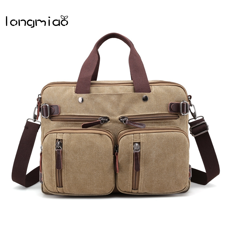 9260fd783eee longmiao Vintage Men Canvas Handbags Large Capacity Multifunctional Men s  Canvas Travel Bag High Quality Shoulder Messenger