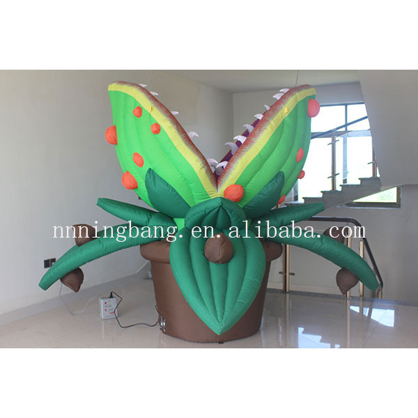 popular giant inflatable venus flytrap inflatable flower for decoation