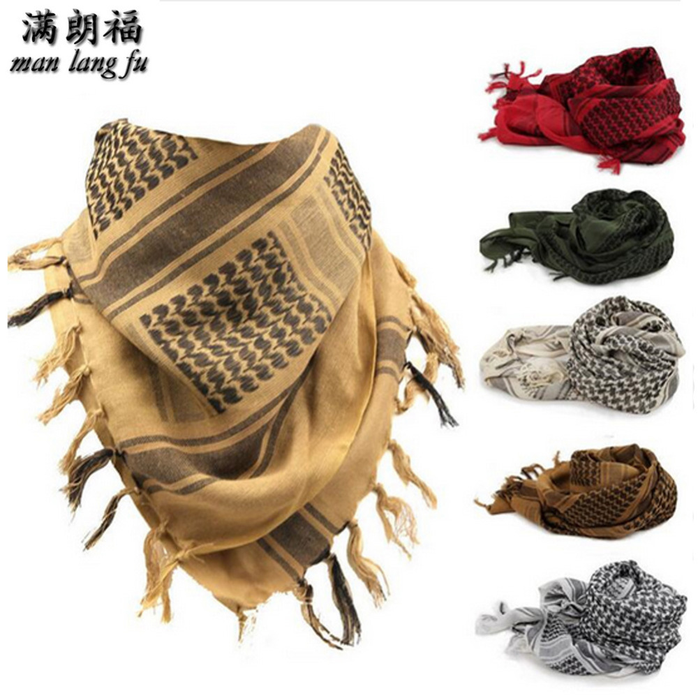 High Quality Arab Shemagh Keffiyeh Military Tactical Palestine Scarf for Men Shawl Kafiya Wrap Shemagh Scarf Fashion Scarves in Men 39 s Scarves from Apparel Accessories