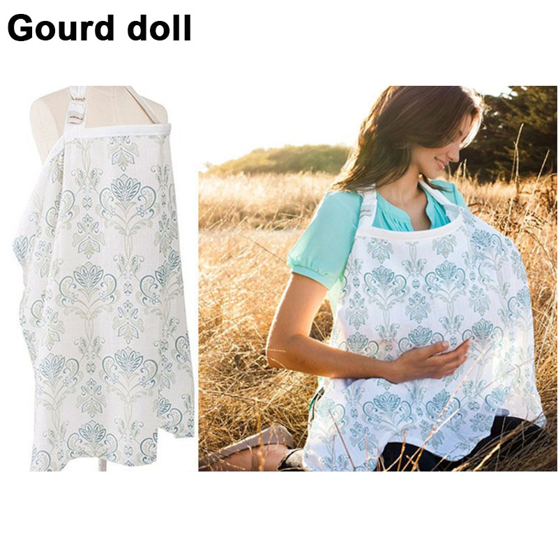 2018 Mother Nursing Covers Baby Infant Breathable Gauze Cotton Nursing Cloth L Large Siz ...