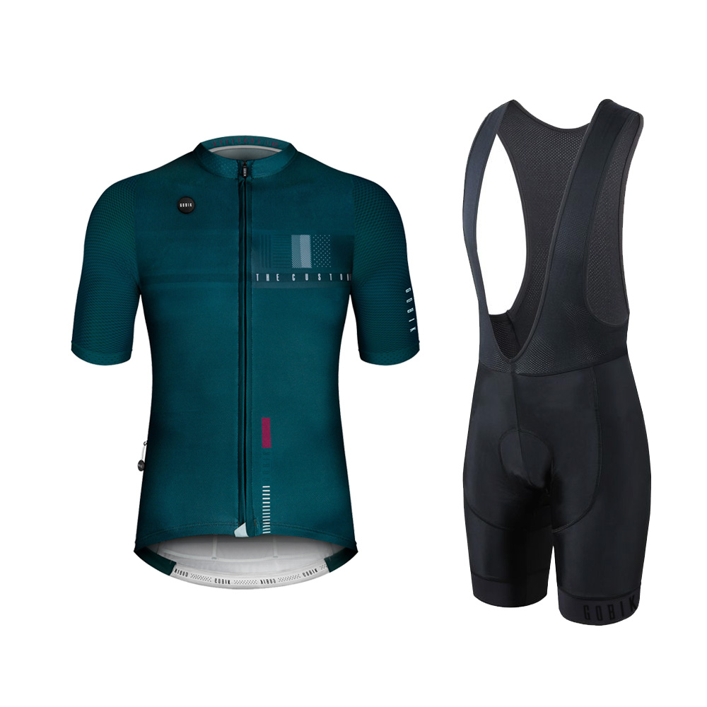 187f072c1 GOBIK AAA Quality Men s Cycling Jersey and bib shorts Summer short sleeve  pro aero mesh sleeve