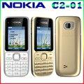 C2-01 nokia c2-01 1020 mah desbloqueado 3.15mp 3g apoyo englihs/ruso/hebreo/árabe teclado/celular gratis gratis
