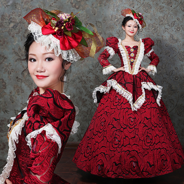 3d3cc09146ee Customized 2018 Autumn Winter Rococo Marie Antoinette Dress Medieval Gothic  Retro Victorian Ball Gowns Theatre Clothing