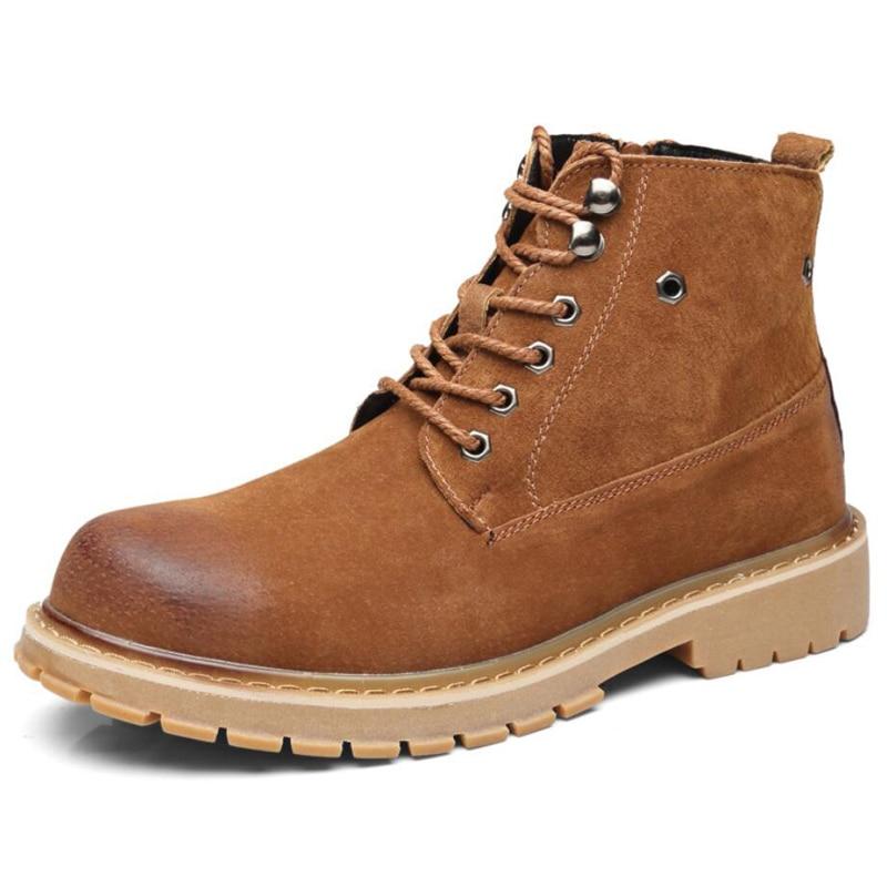 Men's Boots Lace-up Desert Boot Ankle Black Men Boots Genuine Leather Men Shoes Genuine Leather Winter Shoes Mens Fashion Boot new 28 color casual boot genuine leather flats shoes shoelace shoes boot lace shoes strap shoeslaces 500pairs lot via dhl ems