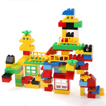 100pcs Quality ABS Big Building Blocks Educational Toys Baby Block Toys Children Gift Compatible with legoed Duploe
