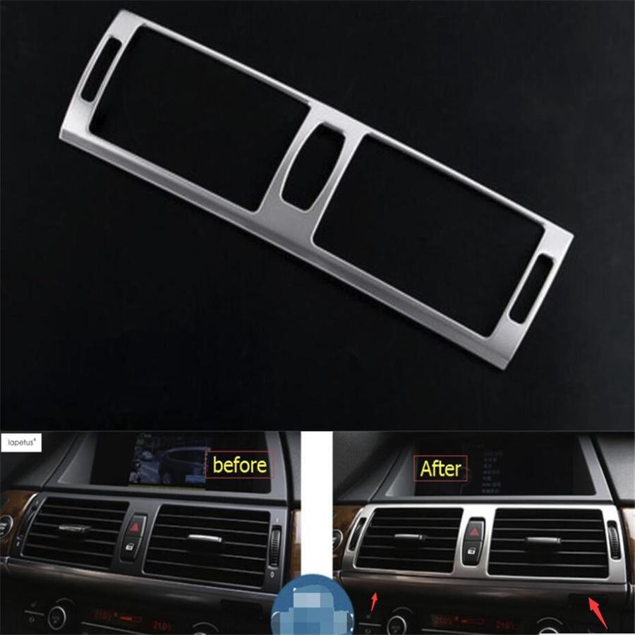 Accessoires Lapetus pour BMW X5 E70 2009-2013X6 E71 2010-2014 Central Central climatisation prise de courant alternatif Kit de couverture de moulage