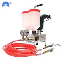 Двойной Жидкий пенополиуретан/эпоксидный распылитель машина для нагнетания цементного раствора 220 В