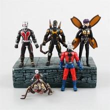 Christmas Toy Gift Marvel Superhero Antman Action Figure Correction 12cm 5pcs/set Ant Man Model Doll Decorations