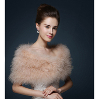 2018 New Sleeveless Vest Coat Maylooks Wrap Evening Stoles And Wraps Real Fur Shrug Wedding Jacket Bridal Winter Coat Mpj151110
