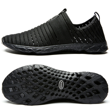 aleader 2017  breathable mens shoes summer slip on beach shoes flat ladies walking water shoes mesh casual shoes zapatillas