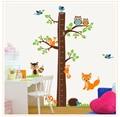 Детский сад супер размера adhcsive высота мультфильм животные деревья детская комната гостиная украшения наклейки