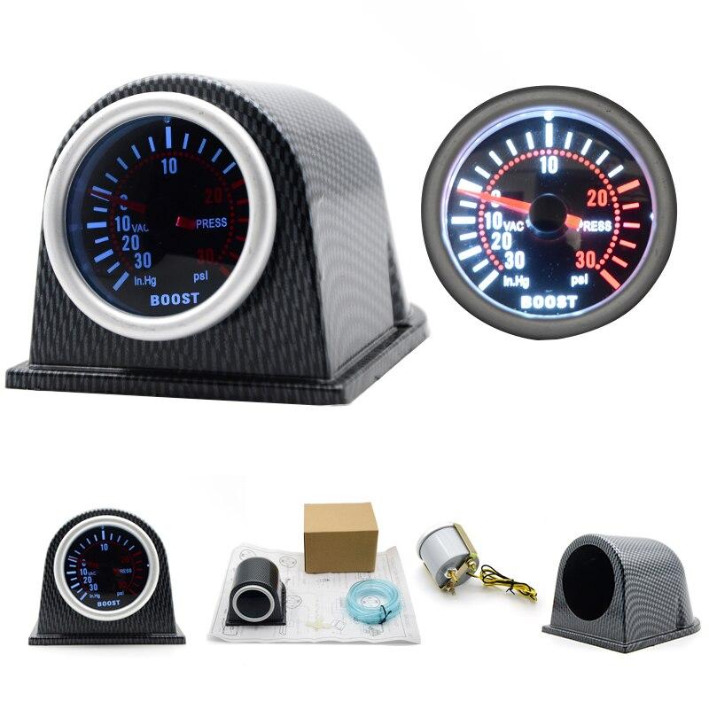 medidor de impulsionador turbo alta qualidade 2 52mm carro led ponteiro 0 30 psi com